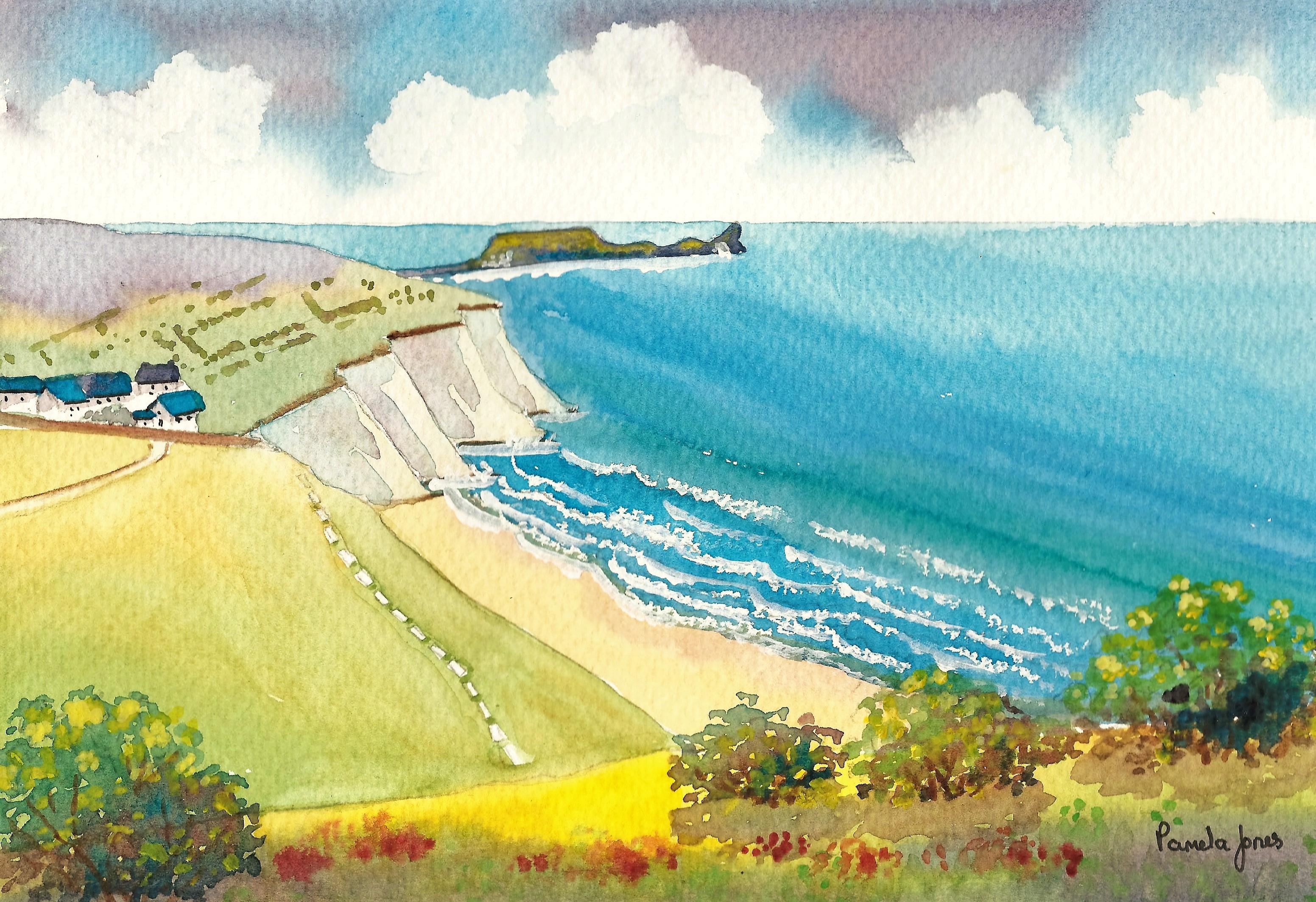 11.  Original Watercolour :: ilfracombe, North Devon, England