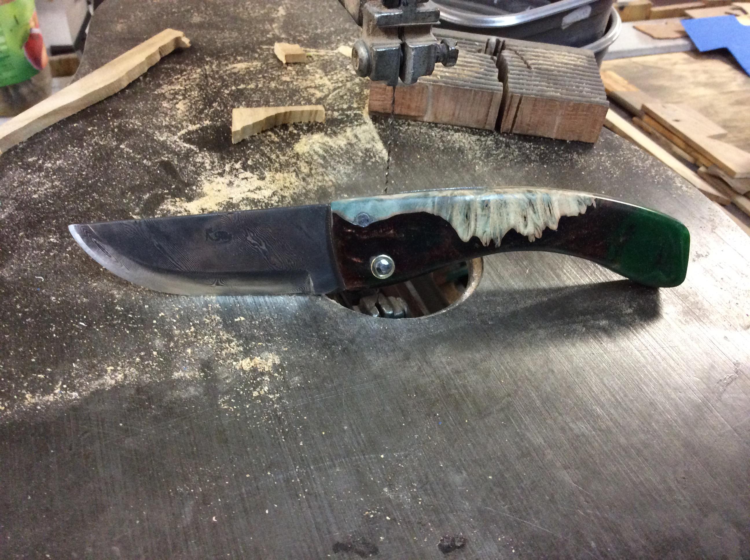 Couteau Damas Ref D 12/14