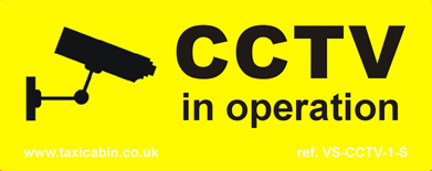 CCTV in operation - small sticky back signs - Ref. VS-CCTV-1S