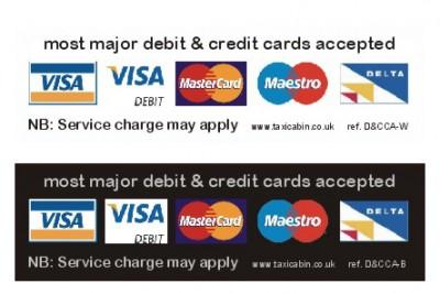 Most major debit & credit cards accepted - Ref. D&CCA