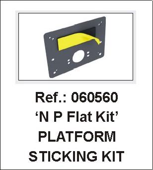 VIP-System Universal Number Plate Flat Bracket Kit - Ref 62000