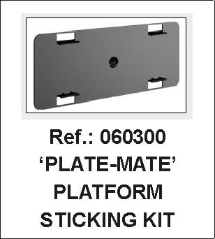 VIP-System Licence Frame Sticky Pad Fixing Kit - Ref 060300