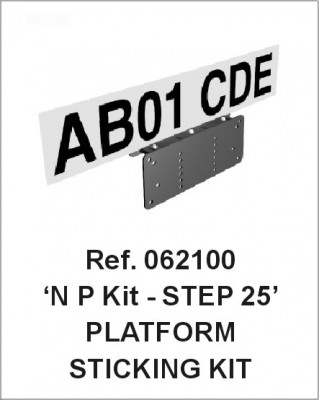 VIP-System Universal Number Plate Bracket Kit - 25mm STEP bracket  - Ref 062100