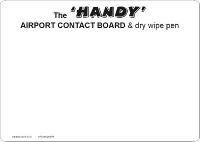 The 'HANDY' A4 airport contact sheet - Ref. handyA4