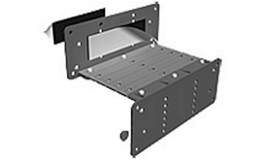 VIP Universal Number Plate Bracket Kit - 25mm STEP, with a 6 section extension bracket - Ref 062100-A