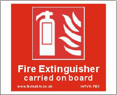 FIRE EXTINGUISHER carried on board - Ref. VS-FEX