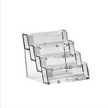 4 Bay Acrylic BUSINESS CARD HOLDER - Ref. a-BC93-4