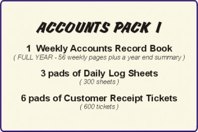 Taxi Drivers Accounts, Pack 1   -  Ref AP1