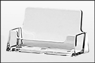 Freestanding, Landscape, Acrylic BUSINESS CARD HOLDER - Ref.BC93