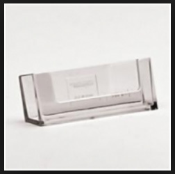 Landscape, Acrylic BUSINESS CARD HOLDER - partition or wall mounted - Ref. WBC93