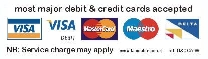 Most major debit & credit cards accepted - Ref. D&CCA-L
