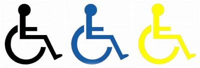 Wheelchair Symbol - Vinyl. SOLD IN PAIRS - Ref. VINYL - WCh