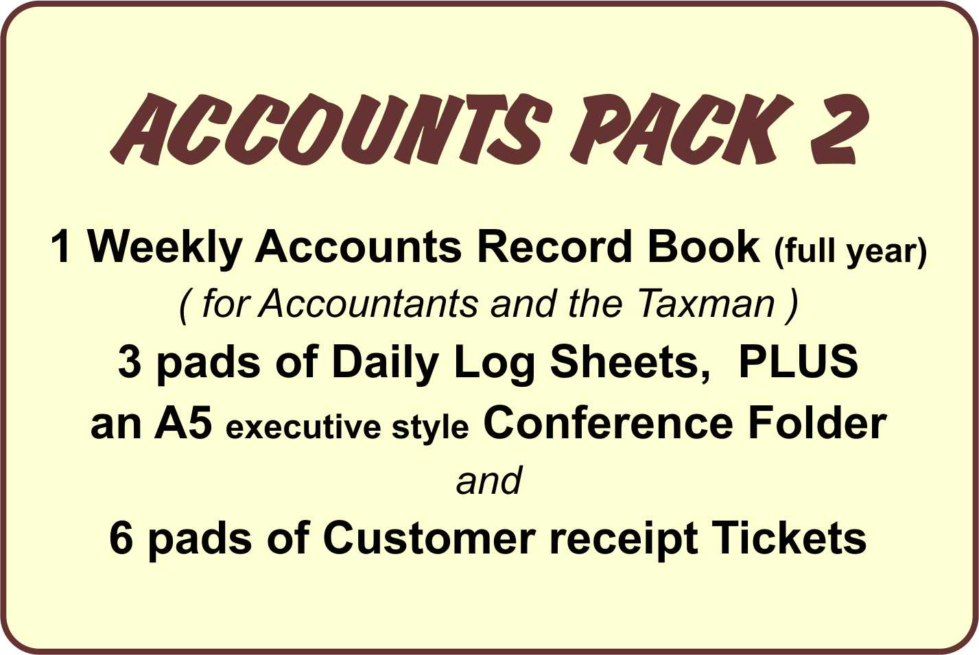 Taxi Drivers Accounts, Pack 2 - Ref. AP2