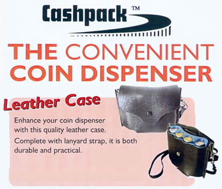 Cashpack Coin Dispenser and Leather Carry Case - Ref. AC2/LCC