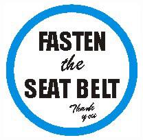 FASTEN the SEAT BELT - Ref. VS8