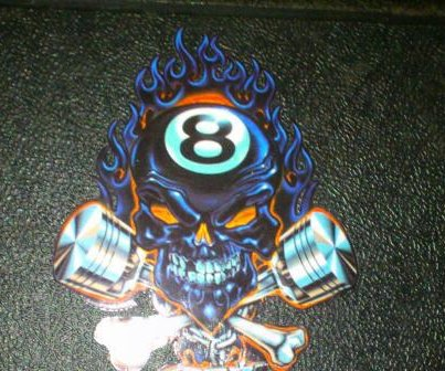 8BallTuning Flaming Skull Decal