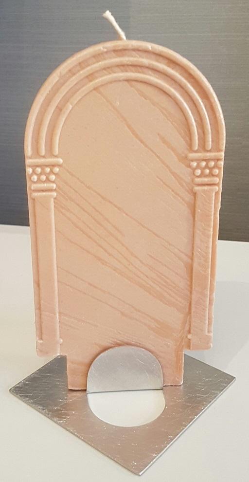 Kerze Altar schweinchenrosa