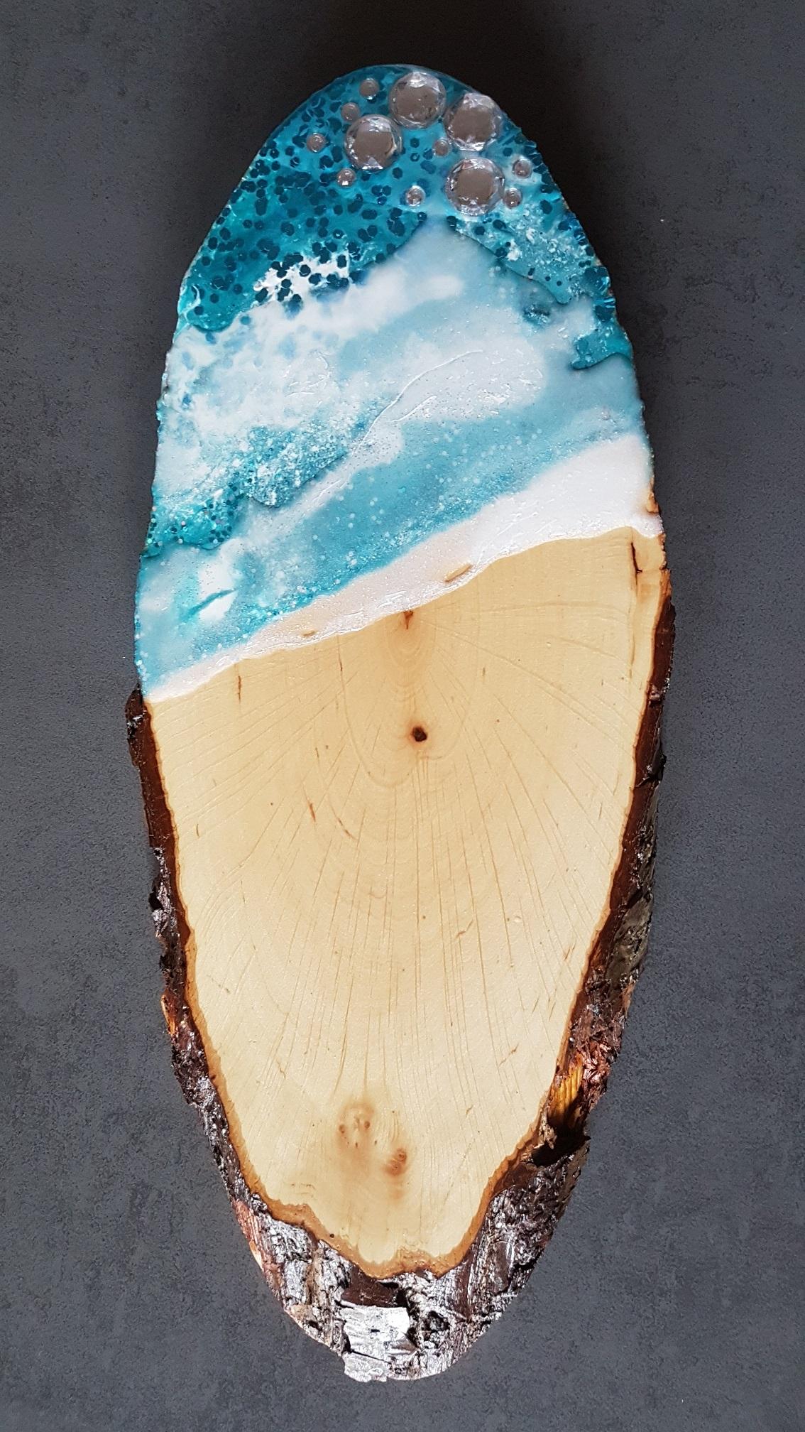Käsebrett / Schneidbrett blau2