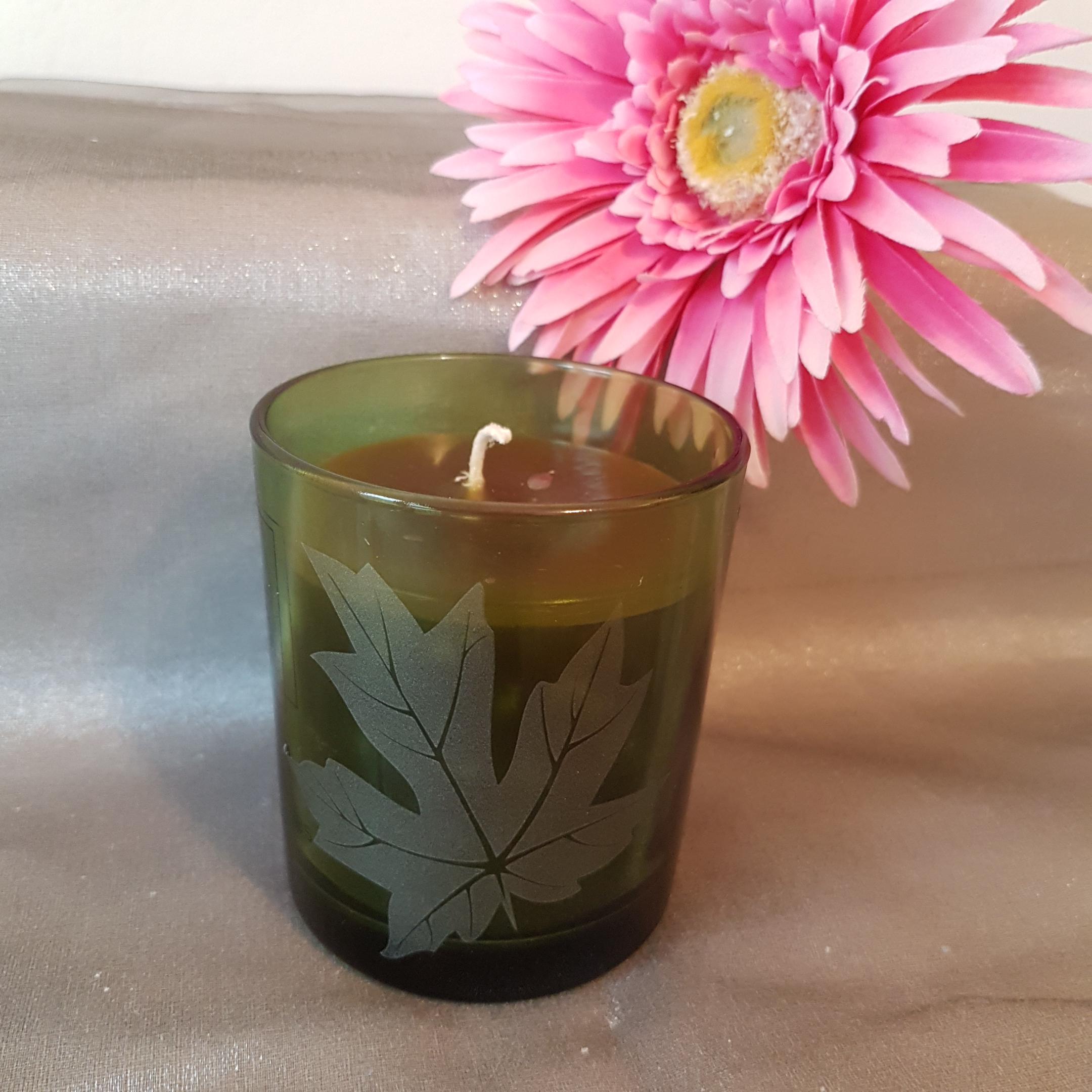 Glaskerze grün Duft: Gurke