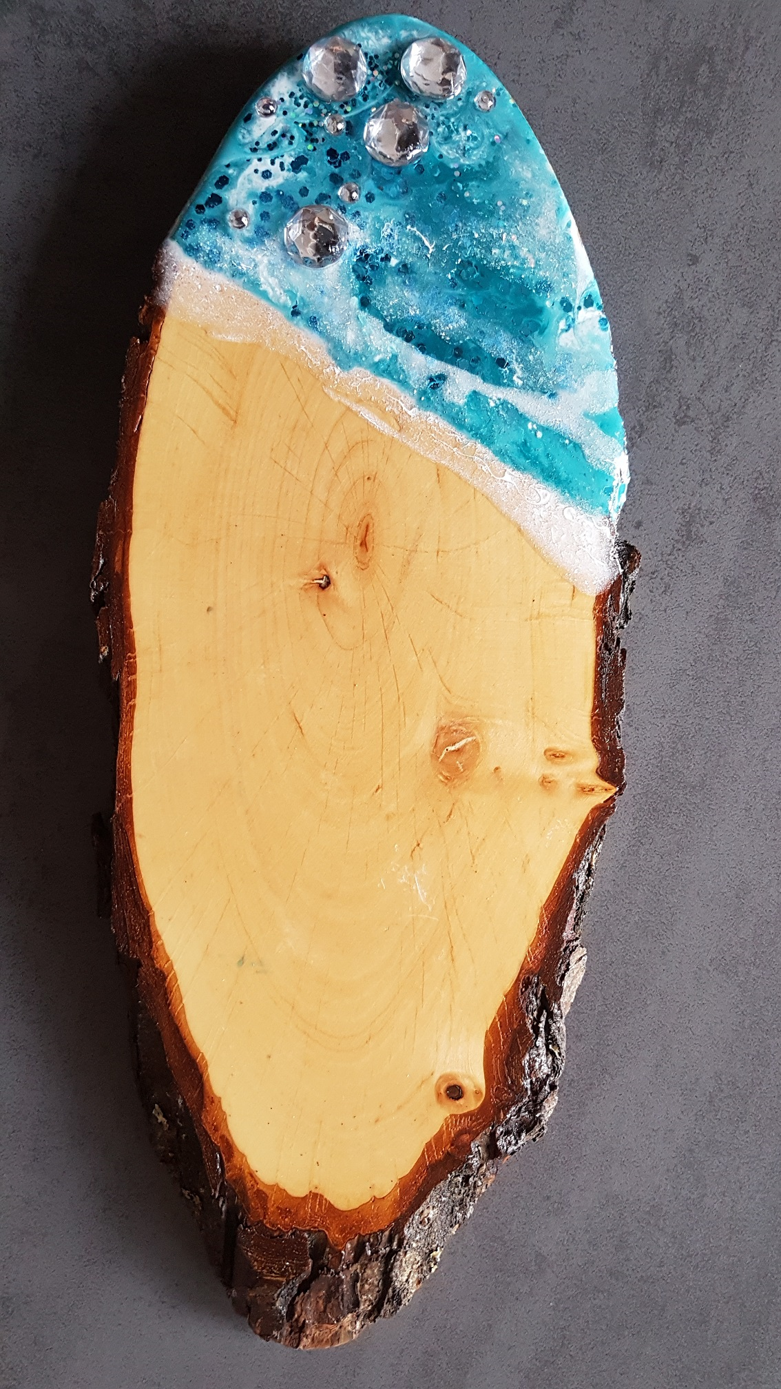 Käsebrett / Schneidbrett blau1
