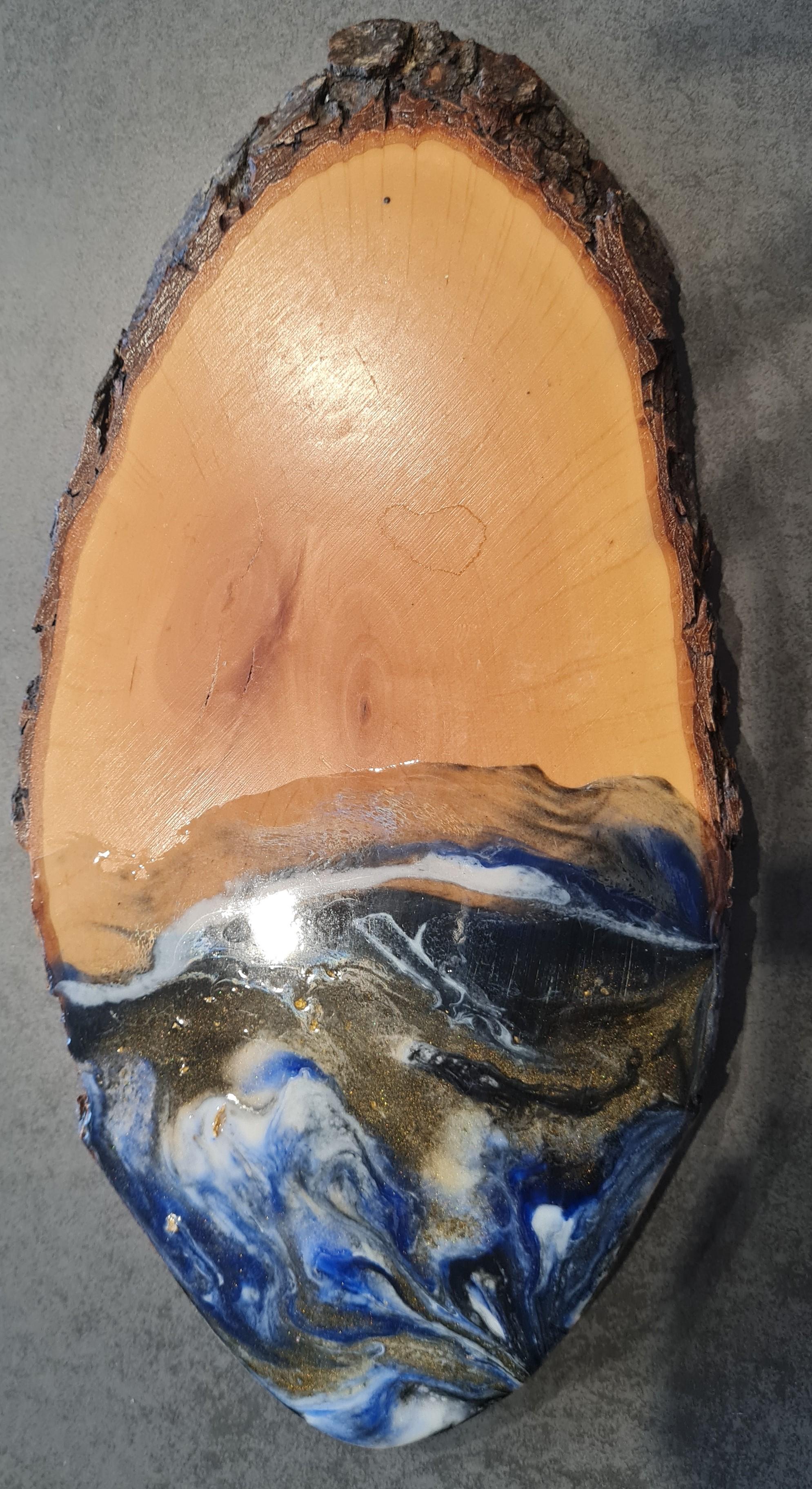 Käsebrett / Schneidbrett dunkelblau