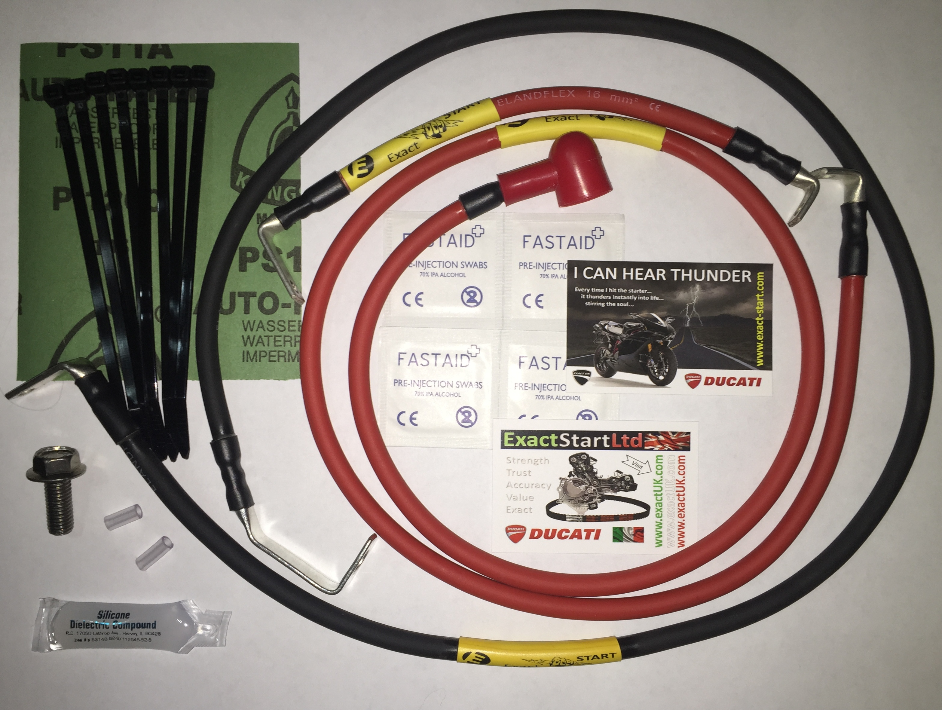 Ducati High Performance Starter Cable Kits ES-11 to ES-20