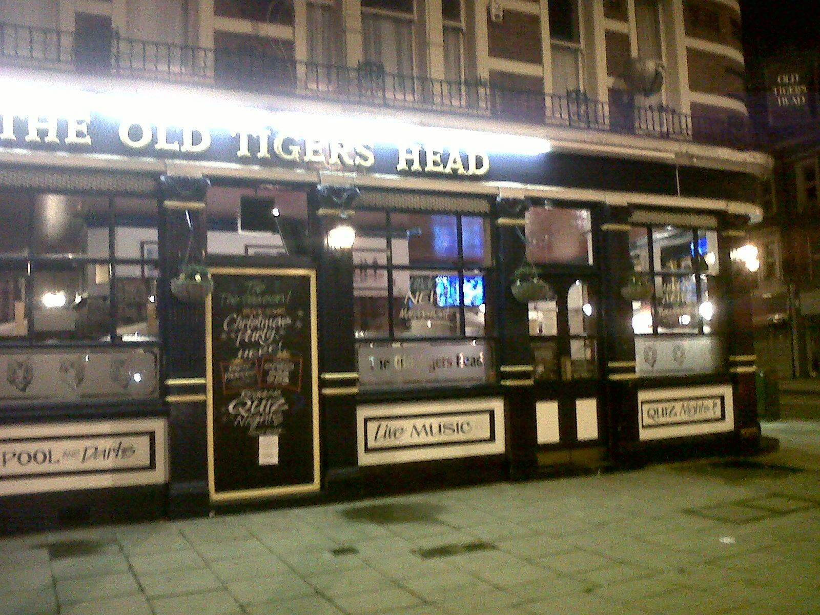 """Thurs, 26th October 2017 - """"Old Tigers Head"""""""