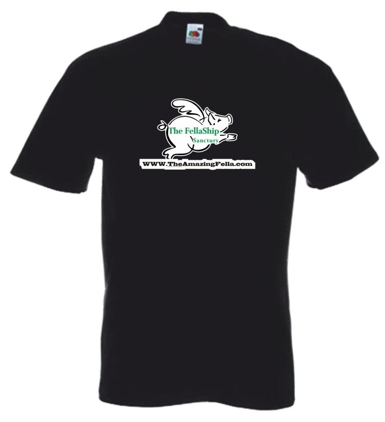 Black/ White/Pink Unisex Tshirt