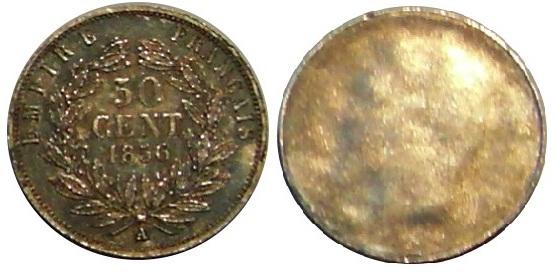 UNIFACE 50 CENTIMES NAPOLEON III 1856 A