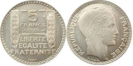 ESSAI 5 FRANCS TURIN 1929