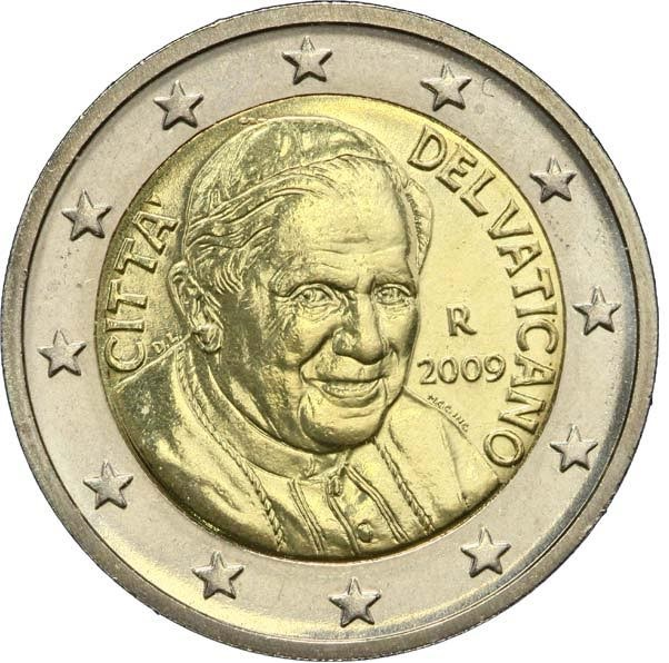 2 EUROS VATICAN  2009