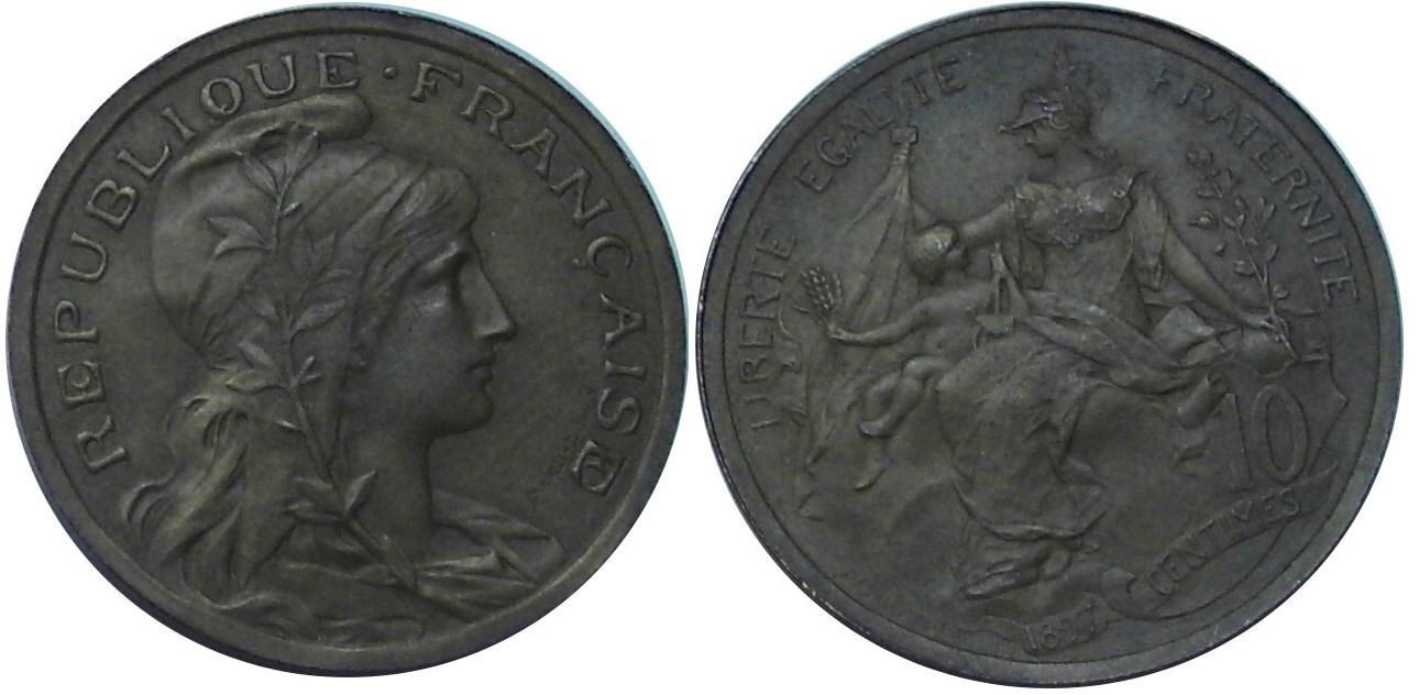 EPREUVE 10 CENTIMES DUPUIS 1897 AU RUBAN