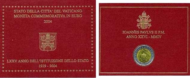 Coffret 2 EUROS VATICAN  2004
