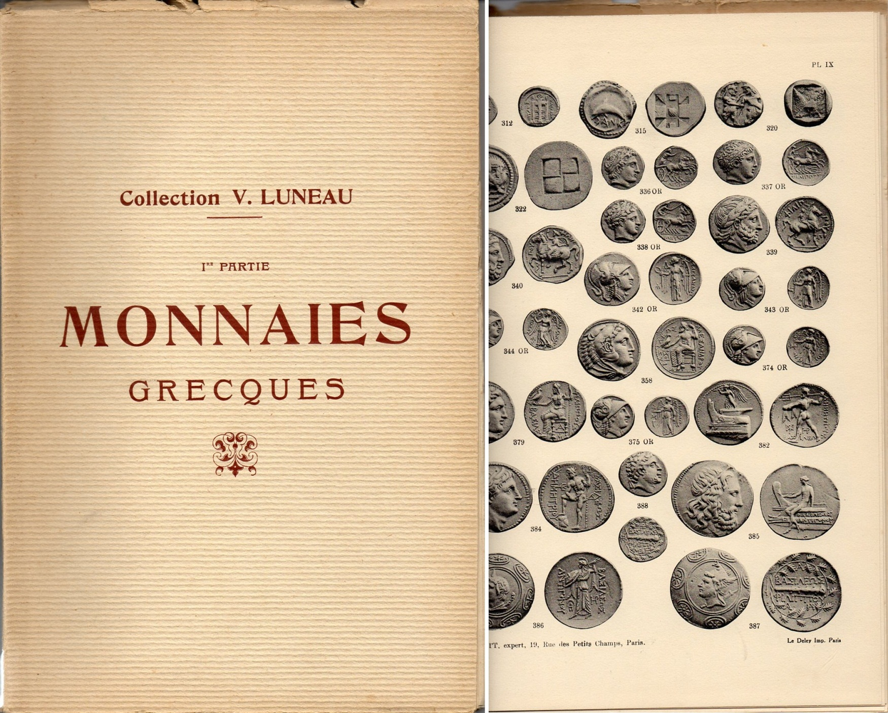 COLLECTION V. LUNEAU : MONNAIES GRECQUES