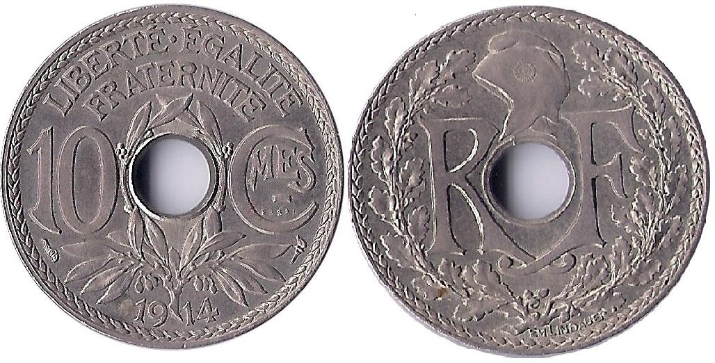 ESSAI  10 CENTIMES LINDAUER 1914