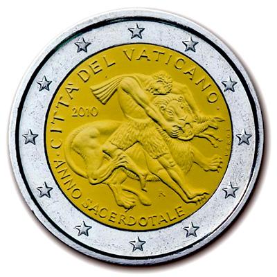 2 EUROS VATICAN  2010