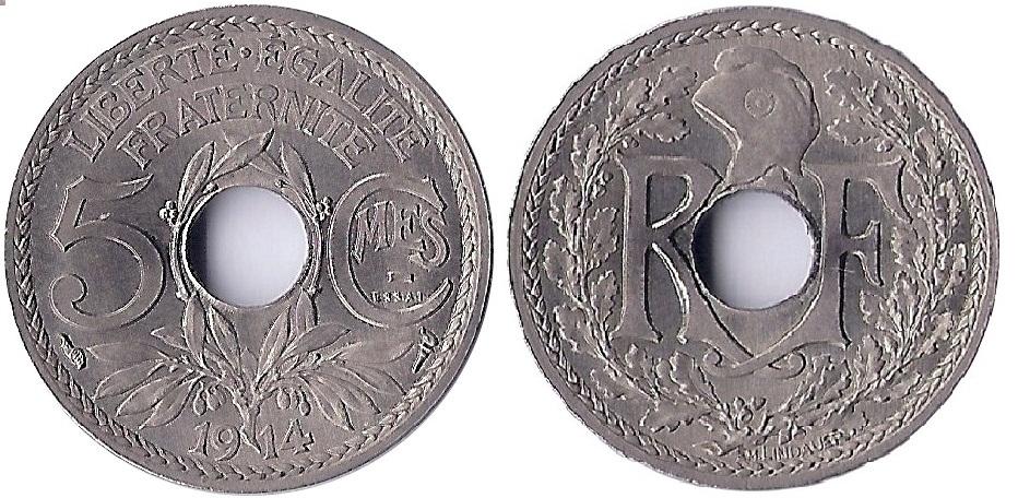 ESSAI  5 CENTIMES LINDAUER 1914