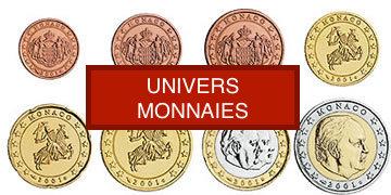 SÉRIE MONACO  2001, DE LA 1 CENTIMES À LA 2 €