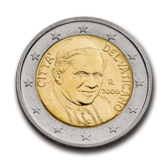 2 EUROS VATICAN  2006