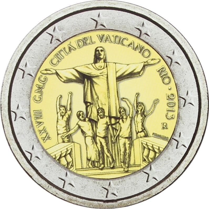 2 Euro JMG RIO DE JANEIRO VATICAN 2013