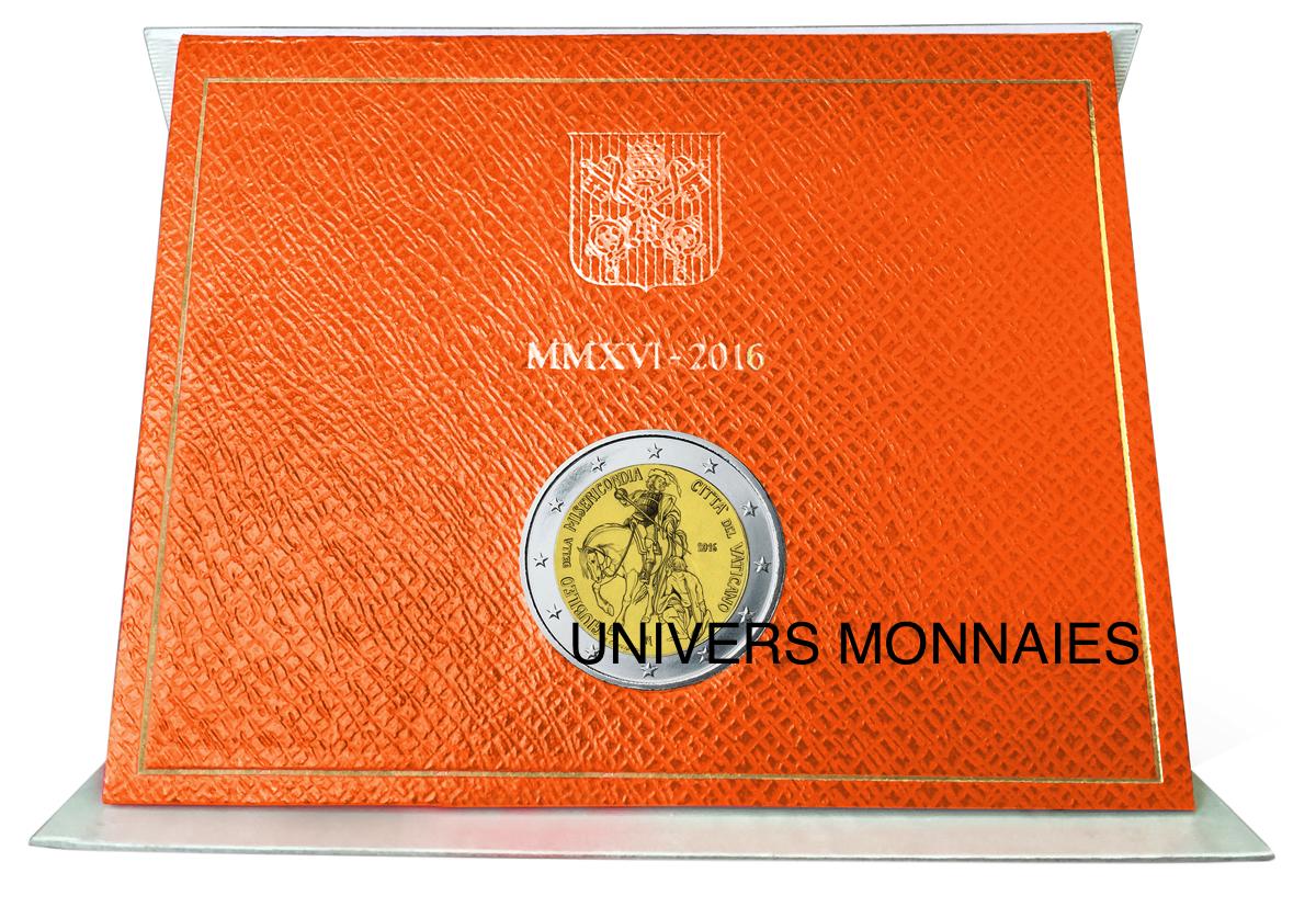 2 EURO BRILLANT UNIVERSEL VATICAN 2016 JUBILÉ DE LA MISÉRICORDE