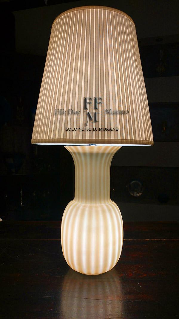 lampada tavolo vaso incamiciato  grigio rigadin
