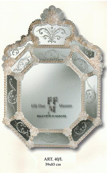Murano  Glass Mirror 40 L