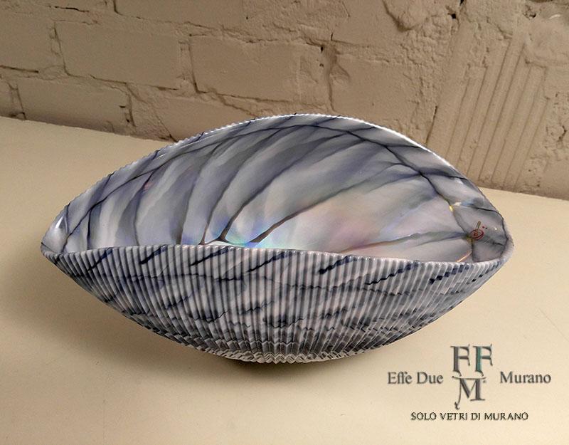 yalos shell centrotavola 30 cm grigio