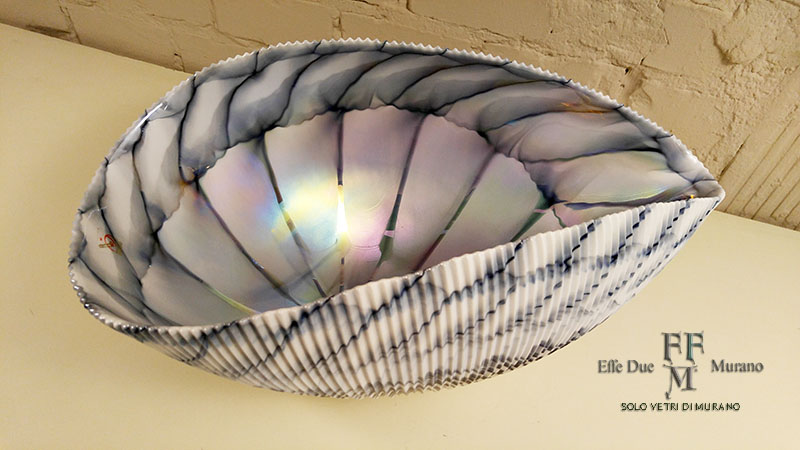 yalos shell centrotavola 44 cm grigio