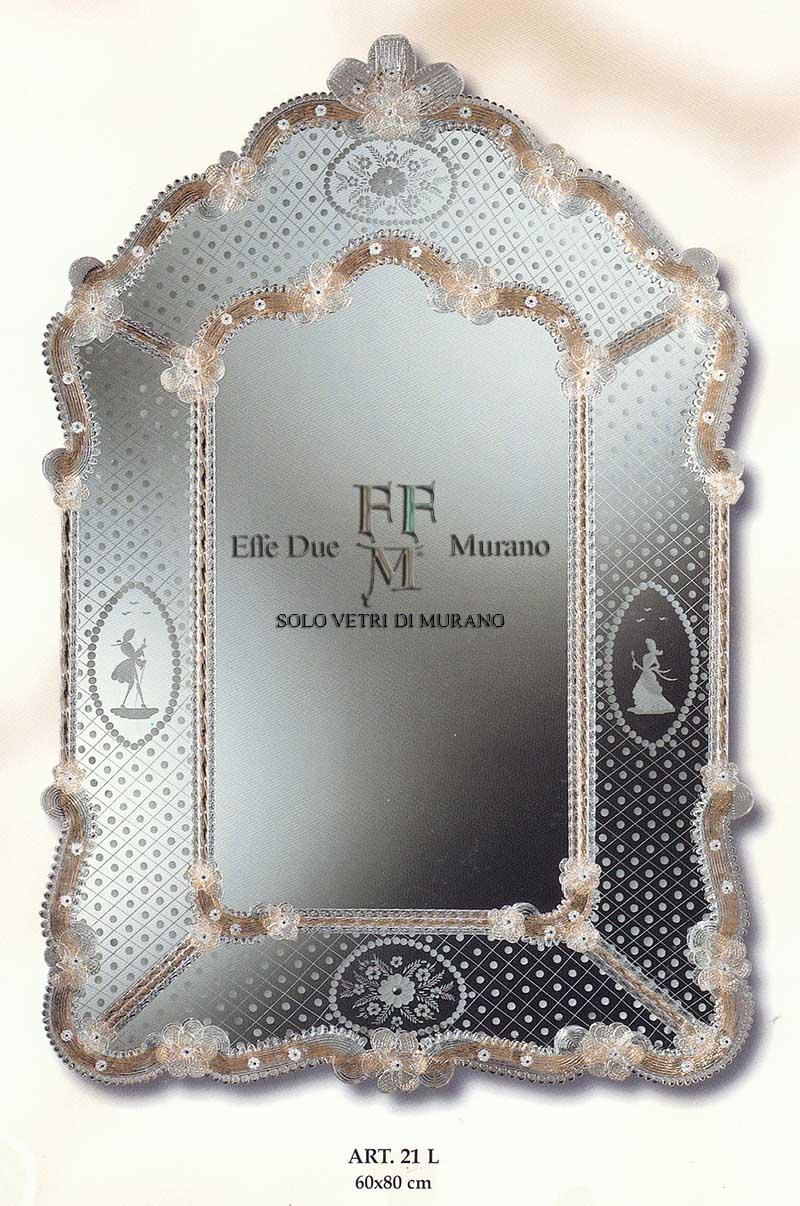Murano Glass Mirror 21 L