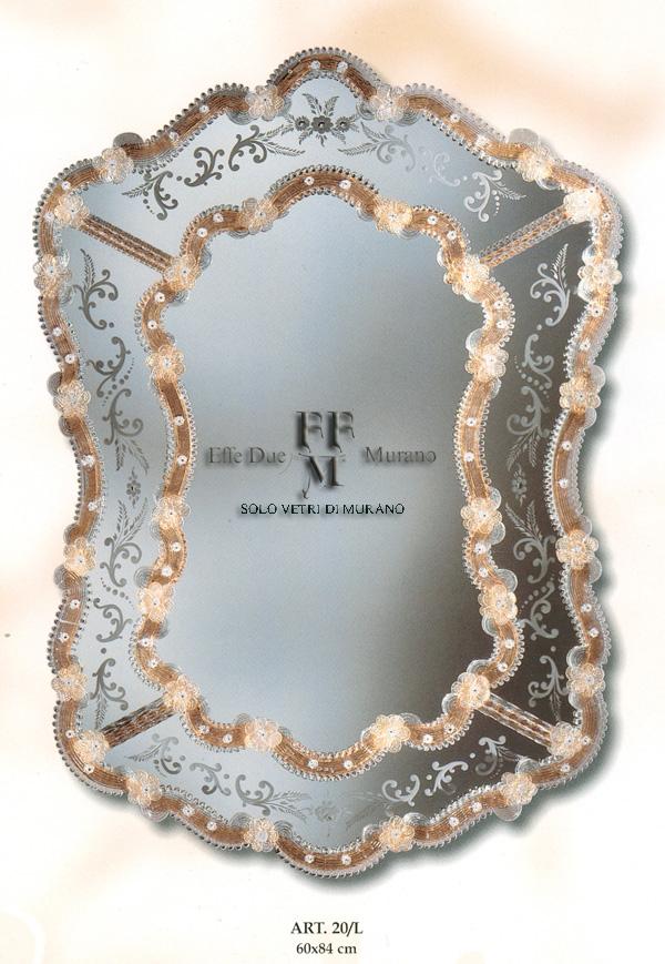 Murano Glass Mirror 20 L