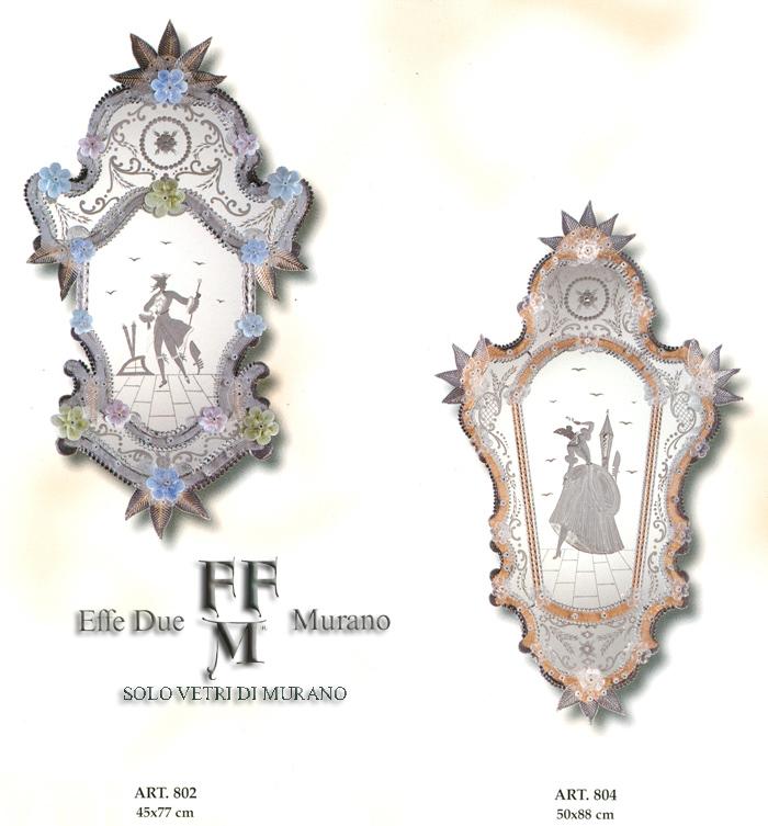 Murano Glass Mirror 802-804
