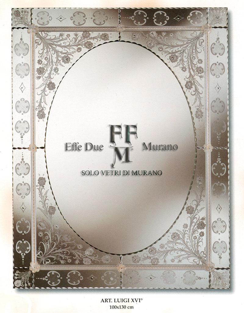 Murano Glass Mirror LUIGI XVI BIG
