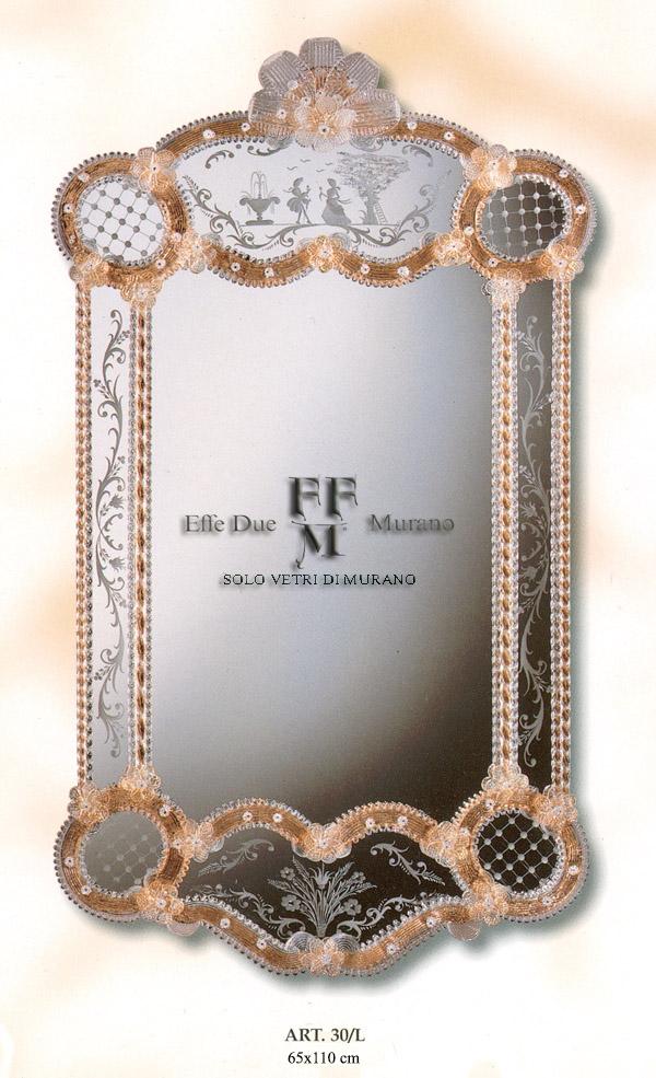 Murano  Glass Mirror 30 L BIG